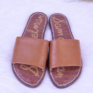Sam Edelman Tan Slide sandals Mules Sz 6 NWOT